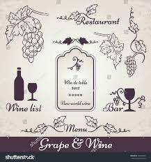 wine grape decoration vintage vine vector stock vector 120222490