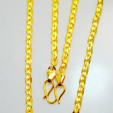 colour gold necklace images Wholesale 990 sterling silver gold color gold chain in thailand jpg
