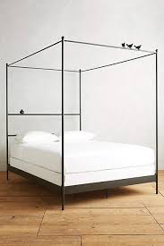 Iron Canopy Bed City Black Iron Perch Bed