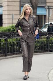 leather jumpsuit in leather jumpsuit