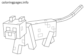 minecraft cat coloring pages pdf free printable cat coloring pages