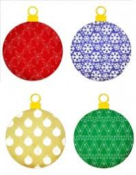 free printable ornament cutouts merry and