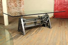 crank table base for sale industrial crank table vintage industrial adjustable industrial