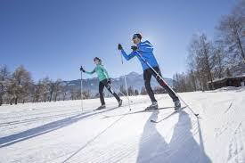 cross country skiing at the kitzsteinhorn ski dome oberschneider