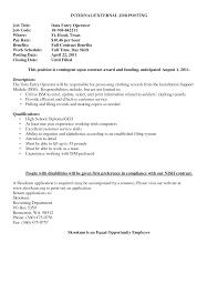 Data Entry Resume Resume Data Entry Resume