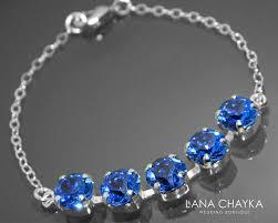 sapphire crystal bracelet images Sapphire crystal bracelet swarovski sapphire royal blue sterling jpg