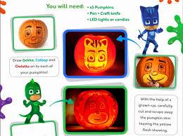pj masks halloween costumes pumpkin carving stencils