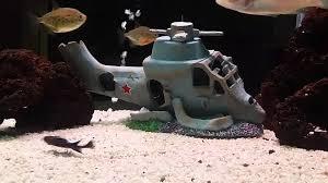 aquaholics helicopter wreck aquarium ornament