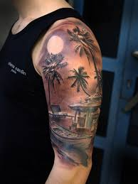 collection of 25 black and grey tree on half sleeve