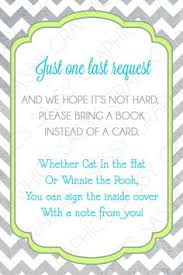 book instead of card baby shower poem baby shower book instead of card sorepointrecords
