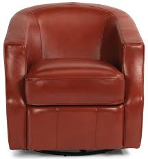 Red Leather Swivel Chair by Holly Swivel Chair Flexsteel Frontroom Furnishings