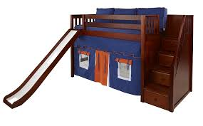 Bunk Beds With Slide And Stairs Maxtrix Mid Loft Bed W Staircase On End Slide
