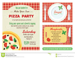 make your own party invitation vector make your own pizza party invitation set stock vector