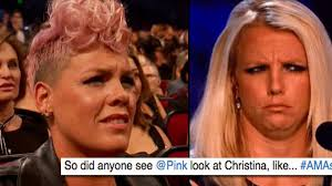 Meme Pink - pink claps back at the meme of her watching christina aguilera