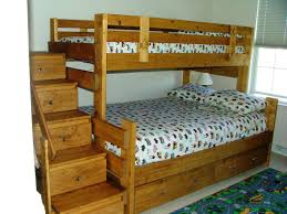 Wood Bunk Beds With Stairs Plans by Great Built In Bunk Bed Plans Free 6478