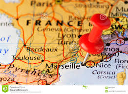 Marseilles France Map by Red Pin On Marseille France Stock Illustration Image 89017248