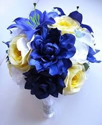 wedding flowers royal blue cheap blue yellow wedding flowers find blue yellow wedding