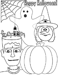 funroom halloween coloring sheet