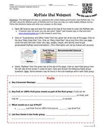fcs foods webquest for students food class pinterest