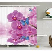Orchid Shower Curtain Butterfly Shower Curtain