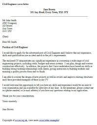 civil engineer cover letter example icover this the left was based