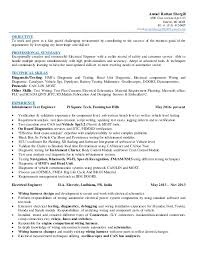 Sample Resume Format For Experienced Software Test Engineer by Automotive Test Engineer Sample Resume 9 Senior Software Enginer