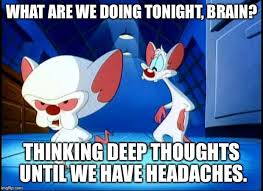 Pinky Meme - pinky and the brain monday imgflip