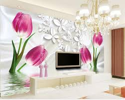 tulip wall mural promotion shop for promotional tulip wall mural beibehang customize any size 3 d living room wall murals wallpaper tulips photo mural wallpaper home decoration wallpaper