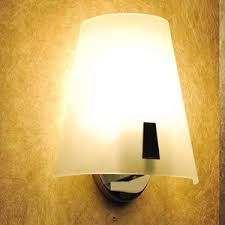 modern bathroom wall sconces with glass shade