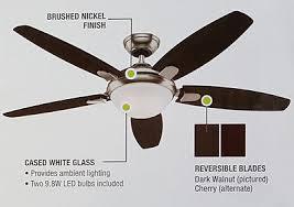 Hunter Ceiling Fan Remote Control by Hunter 54 Contempo Ceiling Fan Remote Control Led Bulbs