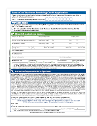 sams club business cards applying sam s club credit card application form for a better