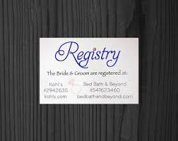 kohl wedding registry bridal registry etsy