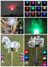 lawn stakes for lights solar snowflake home garden ebay