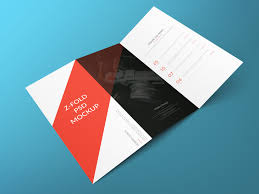 z fold brochure free psd mockup graphic design inspiration