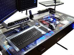 Futuristic Computer Desk Futuristic Desk With Built In Computer Techeblog