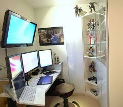 Sick Dorm Room Media Center Setup And Workstation New by Mac Pro Workstation Monitor A Tv And Man Cave