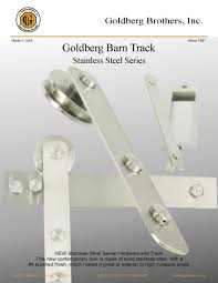 barn door track stainless steel barn door track hardware goldberg brothers