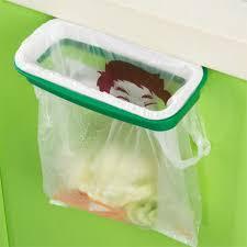 kitchen cabinet waste bins new cupboard door back trash rack storage sink garbage bag holder