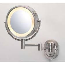 Dual Illuminated Vanity Mirrors Makeup Mirrors Bathroom Mirrors The Home Depot