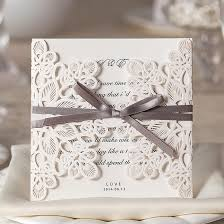 Wedding Invitation Cards Elegant Wedding Invitations With Ribbon Promotion Shop For