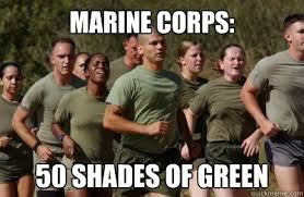 Usmc Memes - marine corps 50 shades of green usmc lol quickmeme