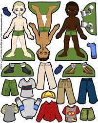 printable paper dolls puck magnetic paper dolls for the boys