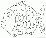 coloriage poisson dessin à imprimer gratuit