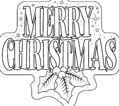 printable merry christmas xmas tree coloring pages kids
