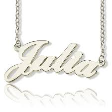 white gold name necklace solid white gold style name necklace