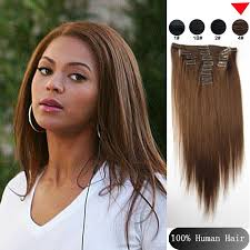 100 human hair extensions 4 brown hair 100 human hair clip in hair extensions