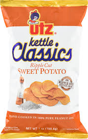 Ripple Chips Utz Kettle Classics Ripple Cut Potato Chips Sweet Potato 7 0 Oz