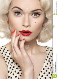 fashioned hair red lips red nails retro makeup pinterest red nails nail