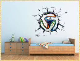popular soccer wall decals decorate a room for child