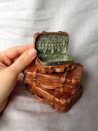 halloween tin cans altoid tin suitcase repurposed altoid box covered in polymer clay